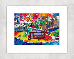 A Trip to Barry Island Mounted Print