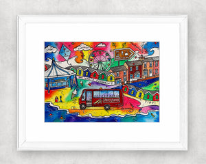 A Trip to Barry Island Original Watercolour Painting