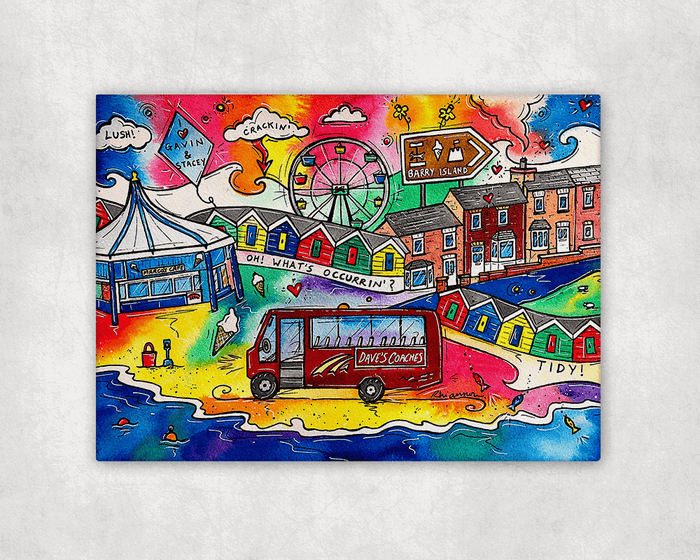A Trip to Barry Island Printed Canvas