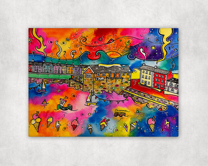 Aberaeron Dreaming of Honey Ice Cream Printed Canvas