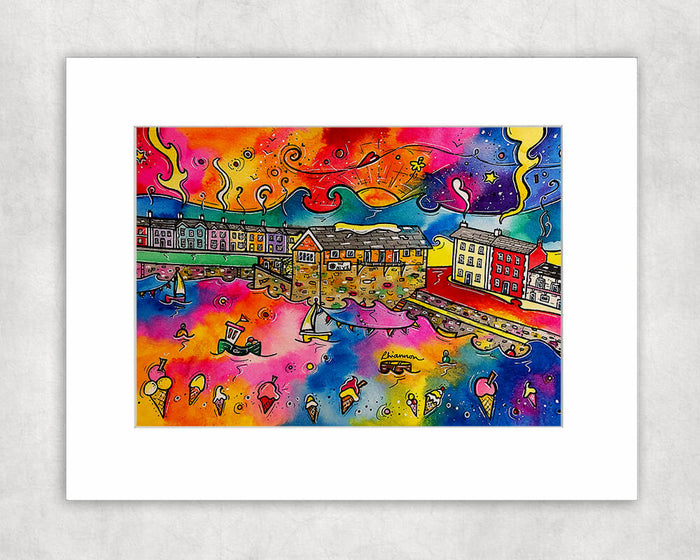 Aberaeron Dreaming of Honey Ice Cream Mounted Print