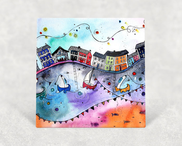 Aberaeron Rainbow Flags Card