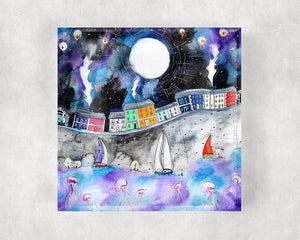 Aberaeron Starry Starry Night Glass Coaster