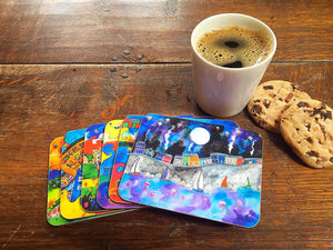 Aberaeron Starry Starry Night Coaster
