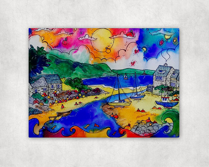 Abersoch Enchanting Harbour Printed Canvas