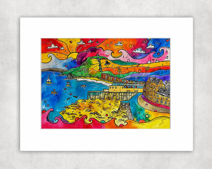 Aberystwyth Afternoon Delight Mounted Print