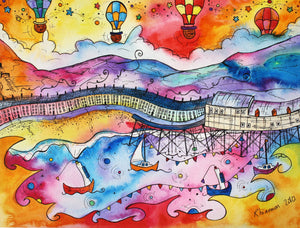 Aberystwyth Beautiful Balloons Printed Canvas