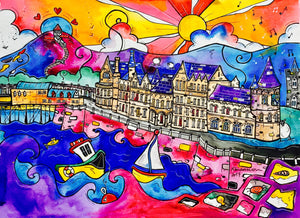 Aberystwyth Whispers of the Old College Printed Canvas