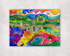 Bath Blissful City Printed Canvas