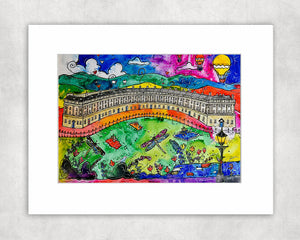Bath Beautiful Crescent Mounted Print
