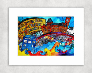 Cardiff Beautiful Bay Mounted Print