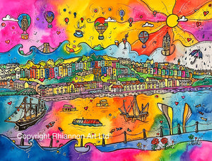 Bristol Rainbow Harbour Printed Canvas