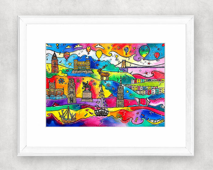 Bristol Beaming City Original Watercolour Painting