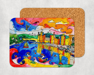 Caernarfon Colourful Reflections Coaster