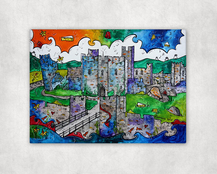 Caerphilly Mythical Castle Printed Canvas