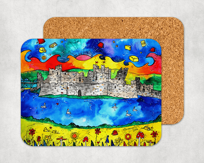 Caerphilly Colourful Castle Coaster
