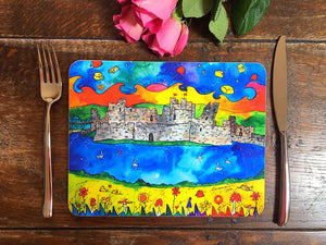 Caerphilly Colourful Castle Placemat