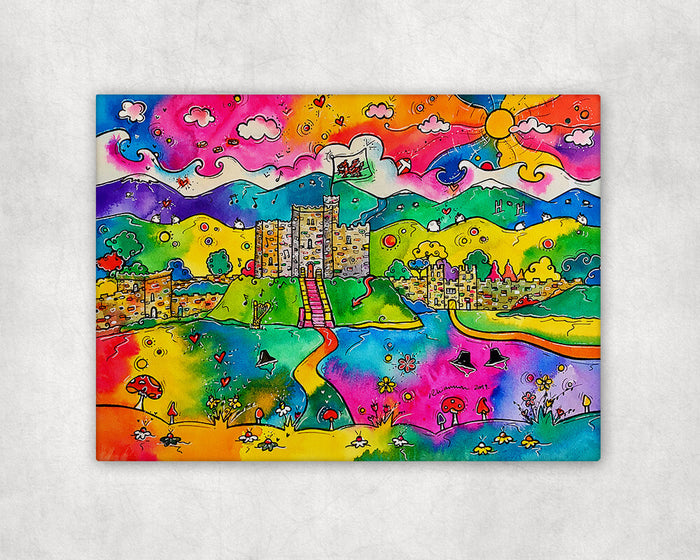 Cardiff Castle of Dreams Printed Canvas