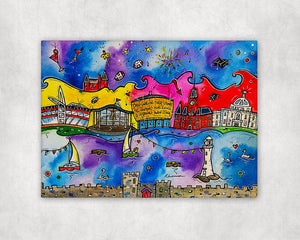 Cardiff Celebrations Printed Canvas