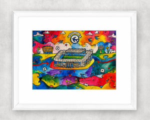 Colourful Cardiff City Stadium Original Watercolour Painting