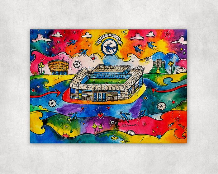 Cardiff City Football Stadium Printed Canvas