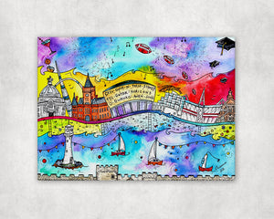 Cardiff City of Dreams Printed Canvas