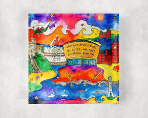 Cardiff City of Hope Glass Coaster