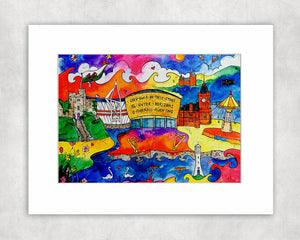 Cardiff City of Hope Mounted Print