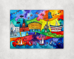 Cardiff Magical Attractions Printed Canvas