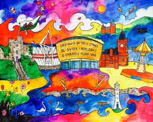 Cardiff City of Hope Printed Canvas