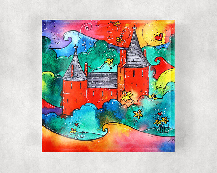 Castell Coch Magic Glass Coaster