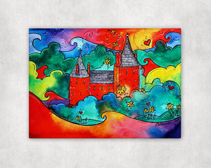 Castell Coch Magic Printed Canvas
