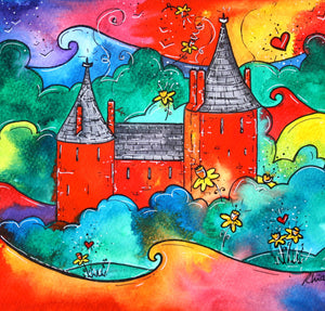 Castell Coch Magic Mounted Print