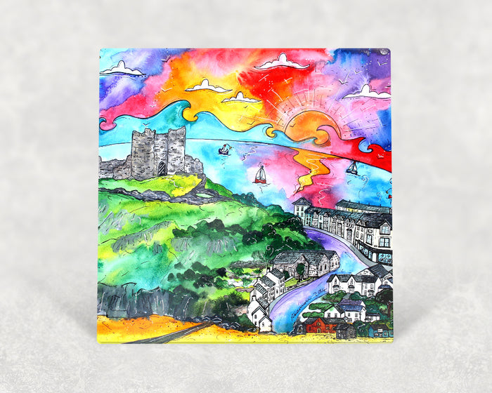 Criccieth Castle View Card
