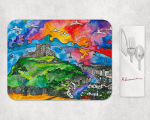 Criccieth Castle View Placemat