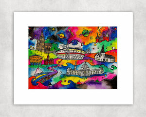 Dreamy Cardiff Mounted Print