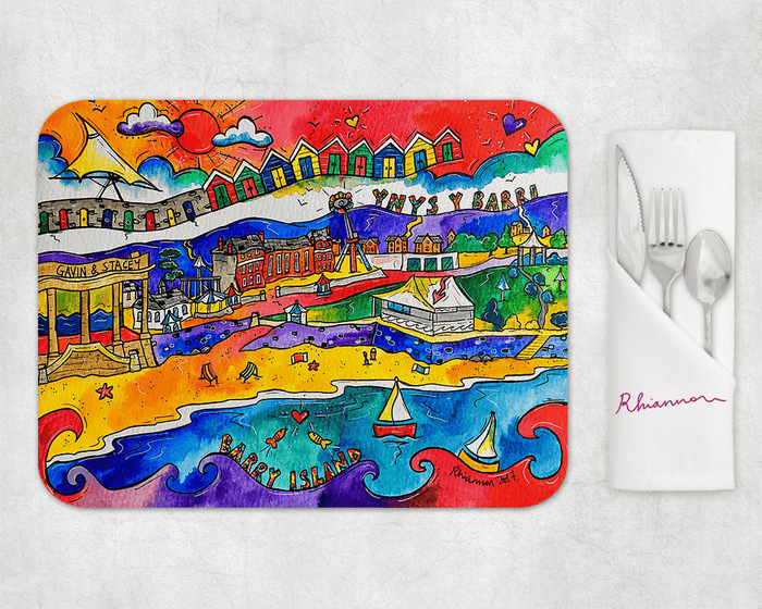 Barry Island Happy Beach Placemat