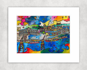 Bristol Happy Harbour Mounted Print