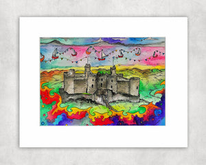 Harlech Castle Mounted Print