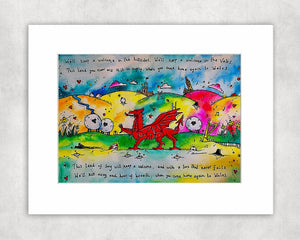 Colourful Hiraeth Mounted Print
