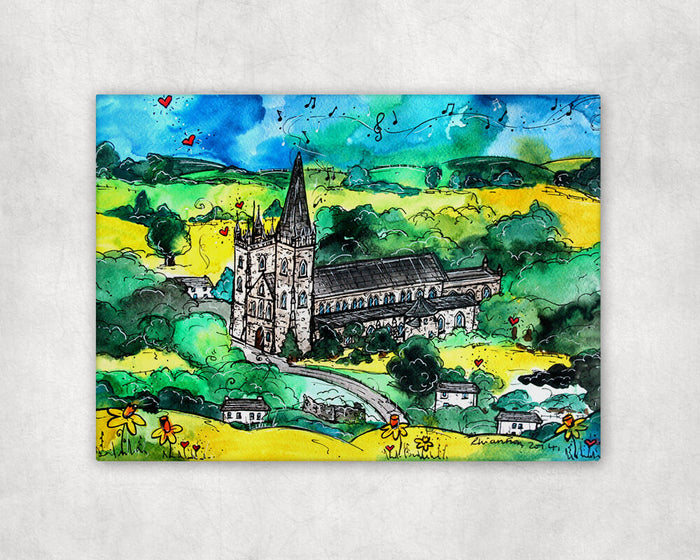 Llandaff Cathedral Mystical Church Printed Canvas