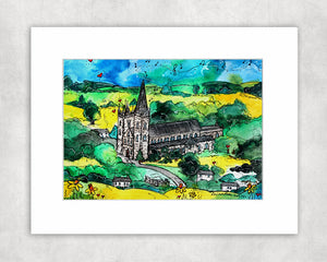 Llandaff Cathedral Mystical Church Mounted Print