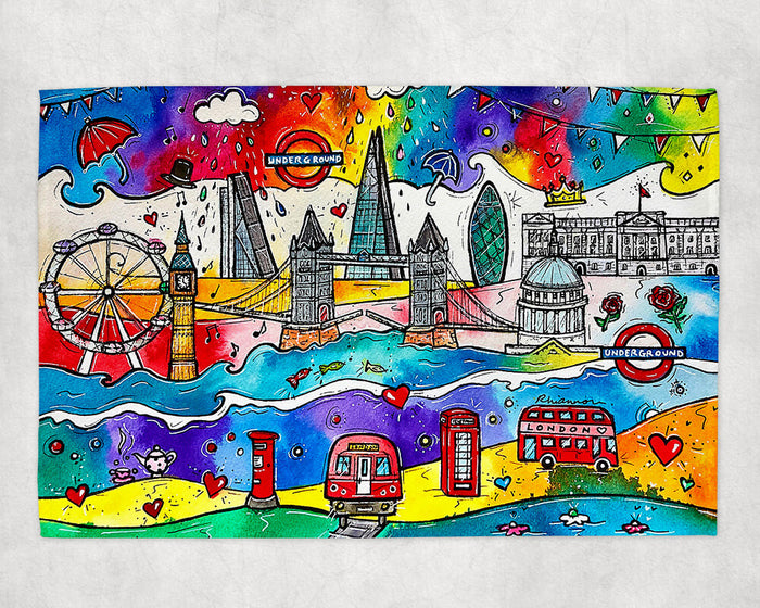 London City of Life Tea Towel