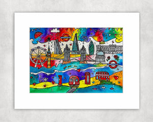 London City of Life Mounted Print