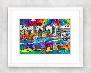 London City of Life Original Watercolour Painting