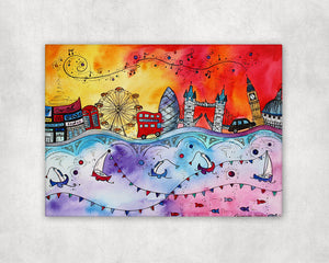 London Magical City Printed Canvas