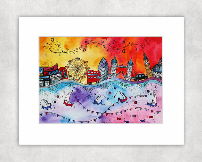 London Magical City Mounted Print