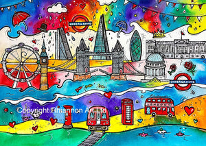 London City of Life Printed Canvas
