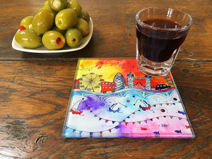 London Magical City Glass Coaster