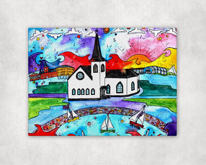 Norwegian Church Printed Canvas